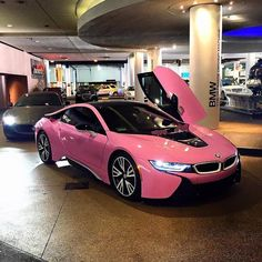 Awesome BMW expensivetastexox Cars Check more at carsboard. Suv Bmw, Bmw I8, Dream Cars, My Dream Car, Fancy Cars, Cool Cars, Pink Bmw, Pink Cars, Dodge