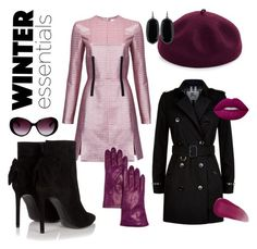 """""""winter essentials"""" by oksana-chmel on Polyvore featuring мода, Carven, Yves Saint Laurent, Burberry, Kathy Jeanne, Moschino, Bloomingdale's, Kendra Scott, Lime Crime и Givenchy"""