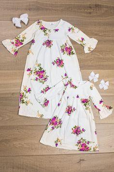 Mom & Me -White Floral Maxi Dress