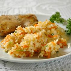 Carrot Rice - basmati rice with carrots, ginger, cilantro, and peanuts