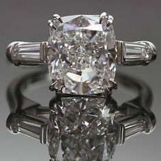 Harry Winston Vintage Platinum Diamond Engagement Ring