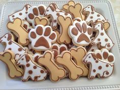 Dog themed sugar cookies