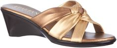 Italian Shoemakers Womens Etiquette Wedge Sandals 6 W Bronze ITALIAN Shoemakers http://www.amazon.com/dp/B00IE0JE96/ref=cm_sw_r_pi_dp_.AIcub0J0P3CK