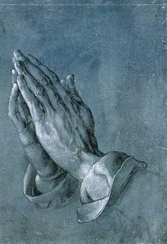 Betende Hände, in English Praying Hands (also known as Studie zu den Händen eines Apostels in German, engl. Study of the Hands of an Apostle), is a famous Pen-and-ink drawing by the German printmaker, painter and theorist Albrecht Dürer made circa Albrecht Durer, Albert Dürer, Städel Museum, Hans Holbein, Praying Hands, Catholic Prayers, Religious Art, Painting & Drawing, Brush Drawing