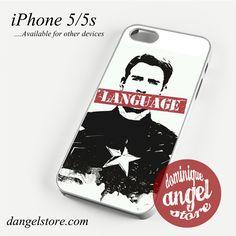 Captain America Language Phone case for iPhone 4/4s/5/5c/5s/6/6 plus