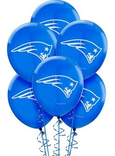 New England Patriots Balloons 12in 6ct - Party City