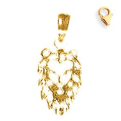 14K Yellow Gold 18mm Lion Head Charm w/ Lobster Clasp. Bale Is Replaced With Lobster Clasp. 30 Day Money Back Guarantee. Manufactured in the United States by JewelsObsession with the highest quality yellow gold. Gram Weight: 0.7. Length: 18 mm x Width: 8 mm. Brand: Jewels Obsession.