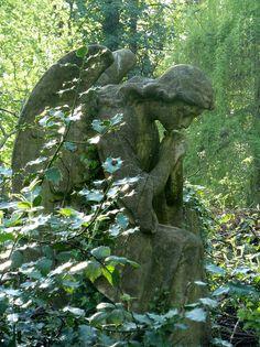 Contemplation in Nunhead Cemetery, London