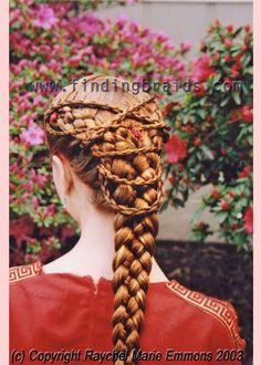 multiple strand plaiting, medieval hair
