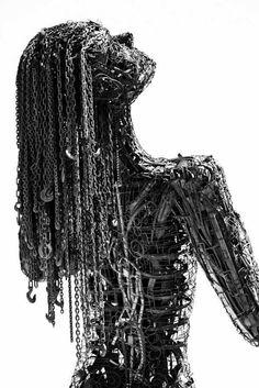 """Photograph of top half of """"Ecstasy"""" sculpture, by Karen Cusolito"""