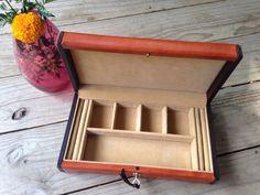 Vintage Men's Jewelry Box Hinged Jewelry Box by RipeAndRecherche