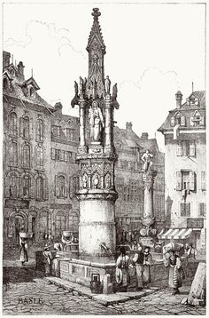 Basel.    Samuel Prout, from Sketches by Samuel Prout, by Charles Holme, London, 1915.