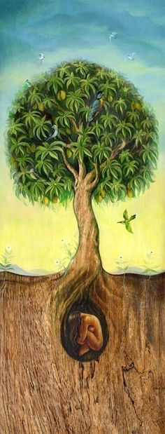 Spring Tree of Life by David Joaquin, Painted Moon Gallery