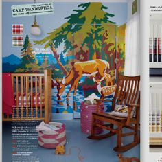 I'm intrigued by the paint-by-number look of this wall decor. It's featured in a Land of Nod catalog, but I can't find it on the website. Is it a decal or mural? Is it a one-off by some catalog stylist or art director?