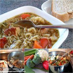Pork Noodle Soup with Veggies ... http://www.quick-german-recipes.com/pork-noodle-soup.html
