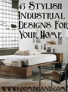"Industrial design is all about displaying building materials that  are traditionally concealed. It's all about raw, unfinished look, exposed pipes and ducts, exposed brick walls, timber roof trusses and steel columns… Selecting pieces that are as much about function as style. Industrial showcases neutral tones, utilitarian and functional objects, wood and metal surfaces. ""Warehouse look"" …"