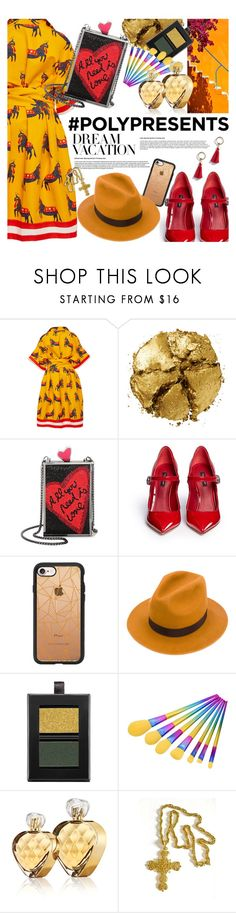 """#PolyPresents: Dream Vacation, Santorini"" by kristina-susanto on Polyvore featuring Pat McGrath, Alice + Olivia, Dolce&Gabbana, Casetify, Dsquared2, Butter London, Untold, Trifari, contestentry and polyPresents"