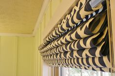 DIY Roman shades using mini-blinds! So easy and inexpensive for custom blinds!
