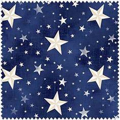 American Beauty by Henry Glass & Co / White Stars on Blue Fabric 9612 77 / Patriotic Fabric / 1 Yard Cuts, Yard Cuts, Fat Quarters by SewWhatQuiltShop on Etsy Fabric Board, Twinkle Star, Paper Frames, Blue Fabric, Cotton Fabric, Fabric Swatches, Stars And Moon, Memorial Day, Iphone Wallpaper
