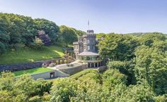 1830 Castle In Isle Of Man United Kingdom — Captivating Houses Glasgow, Edinburgh, London Airports, Tower Design, Irish Sea, Mansions For Sale, Architectural Features, Waterfront Homes, Isle Of Man