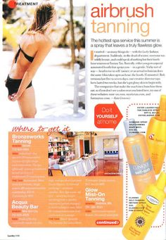 Best Custom Airbrush Tan - Fantasy Tan -Lucky Magazine