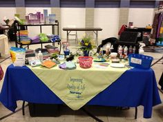 Trade show personalized table covering tablecloth professionally embroidered Your colors!  Home show display