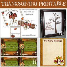 Printable Thanksgiving Crafts