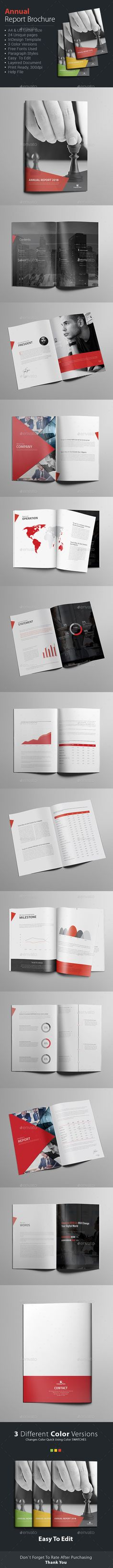 Annual Report Brochure Colors, Adobe and Texts - business annual report template