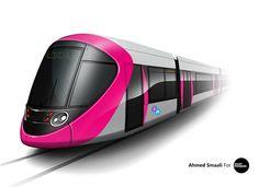 Photoshop Rendering of a Birmingham Metro Concept.  Source - Behance