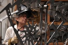 The American music legend picks and chooses elements of his industrial past to create a new metalwork series.