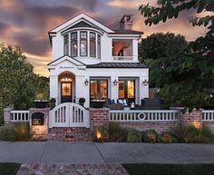 Modern beach home located in Corona del Mar, California features coastal interior design throughout. | Patterson Custom Homes. Interiors by Trish Steele, Churchill Design.