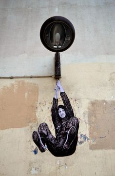 """Levalet """"Night And Day"""" New Street Pieces - Paris, France"""