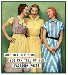 My BFF would love this! Too funny Retro Humor, Vintage Humor, Retro Funny, Vintage Ads, Vintage Images, Vintage Girls, Vintage Pictures, Moda Retro, Nostalgia