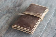 iPhone 6 Wallet Case PERSONALIZED WALLET - Leather iPhone 6 Wallet - Gift Ideas for Her -- Clutch - Mobile Accessories - 001