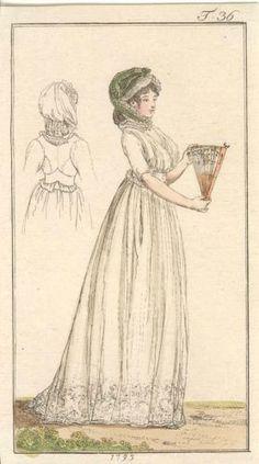 JOURNAL DES LUXUS REGENCY FASHION PLATE DECEMBER 1795 ** RARE ** | eBay