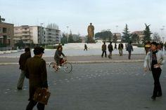 ALBANIA. Tirana. Skenderbeg Square. 1990.