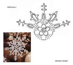 "Photo from album ""Снежинки"" on Yandex. Crochet Christmas Ornaments, Christmas Crochet Patterns, Snowflake Ornaments, Christmas Snowflakes, Christmas Crafts, Crochet Snowflake Pattern, Crochet Stars, Crochet Snowflakes, Thread Crochet"