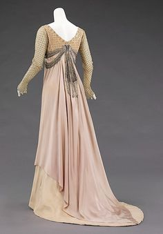 Evening dress Design House: House of Worth  Designer: Jean-Philippe Worth  Date: 1907–10 Culture: French Medium: silk, rhinestones Accession Number: 2009.300.1334