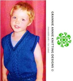 Child's Vest knitting pattern