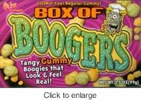if you are looking for a gross halloween candy gummy boogers are perfect