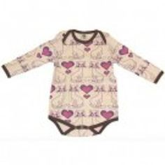 Pink & purple hearts and flowers over an cream backdrop and contrasting brown binding. Kitty Cat Cotton One Piece by Smafolk. $32 Funky Outfits, Kids Outfits, Pink Purple, Purple Hearts, Cool Baby Clothes, Baby Accessories, Baby Gifts, Kitty, One Piece