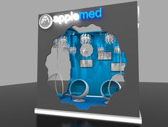 Looking for an exhibition stand? Exhibition design companies like Applemed offer a remarkable exhibition design and build service across the UK and Europe Exhibition Stand Design, Concept, 3d, Building, Exhibition Stall Design, Buildings, Construction, Architectural Engineering