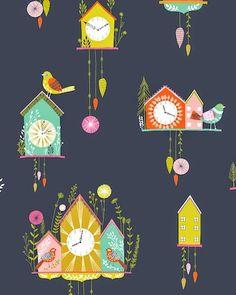 print & pattern blog - dashwood studio : cuckoos calling by bethan janine