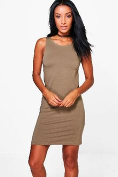 boohoo Racer Front Jersey Bodycon Dress - khaki AZZ42963 Add a staple evening dress to your SS13 wardrobeWhether it?s a prom, lantern or bodycon, an evening dress should take prime position in every wardrobe this season. From PU and lace, to floral and geom http://www.MightGet.com/january-2017-13/boohoo-racer-front-jersey-bodycon-dress--khaki-azz42963.asp
