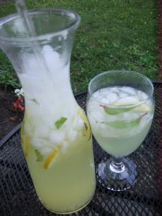 Our Pineapple Sage plant grows like crazy, so this will be a constant drink this summer.- really yummy used lemons from grandma and grandpas meyer tree and our pineapple sage. Cant wait to make Refreshing Drinks, Summer Drinks, Fun Drinks, Healthy Drinks, Summer Fun, Healthy Recipes, Sage Recipes, Herb Recipes, Drink Recipes