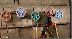 faucet handles as coat hooks would be perfect inside an old farmhouse..!!