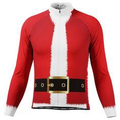 Men's Christmas Santa Fun To Ride Long Sleeve Cycling Jersey – Online Cycling Gear – Free Shipping – Lowest Prices! Cycling Outfit, Cycling Gear, Cycling Jerseys, The Man, Santa, Bike, Long Sleeve, Fun, Bring It On