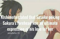 Expressing his love for her in his own special way :)  - Sasuke X Sakura