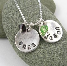 Adding this to my birthday wish list. Personalized Name Handstamped Silver Necklace by newhopebeading, $52.00