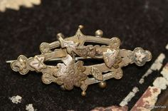 Antique Gold Over Brass Victorian Bar Pin w/ by Yourgreatfinds, $19.99